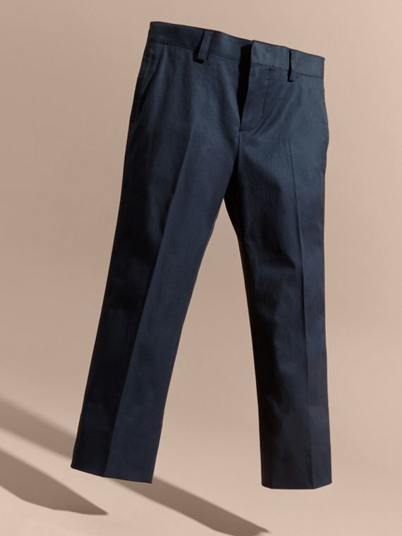 Tailored Stretch Cotton Trousers | Burberry - cell image 2