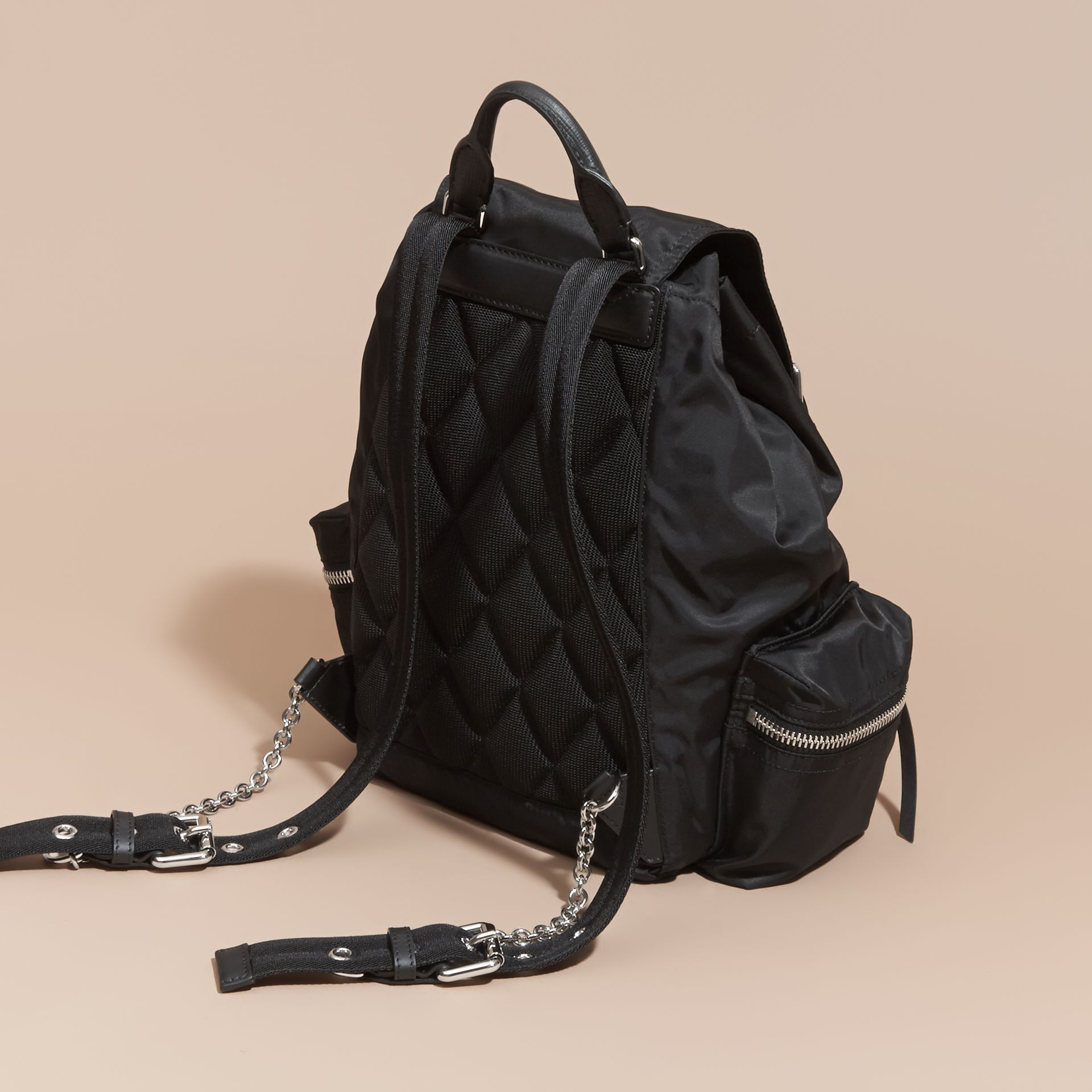 The Medium Rucksack in Nylon and Leather - gallery image 4
