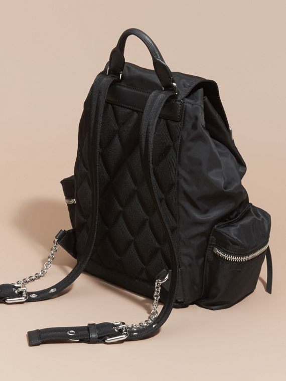 The Medium Rucksack in Nylon and Leather - cell image 3