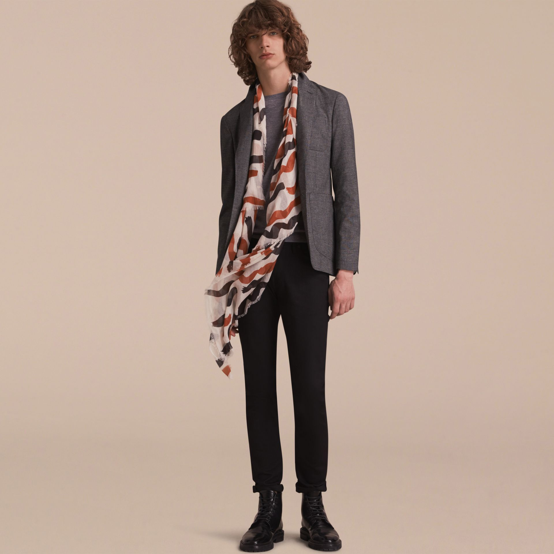 Prince of Wales Cotton Wool Blend Blazer - gallery image 6