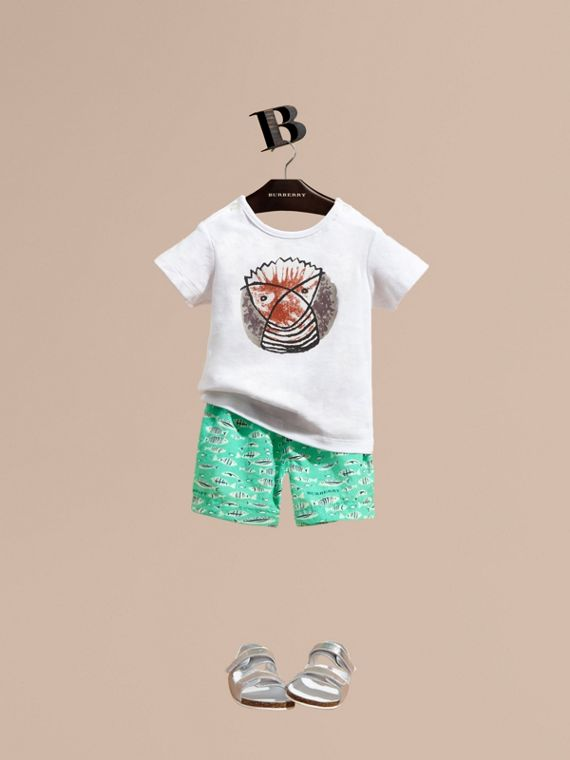 Fish Print Swim Shorts | Burberry