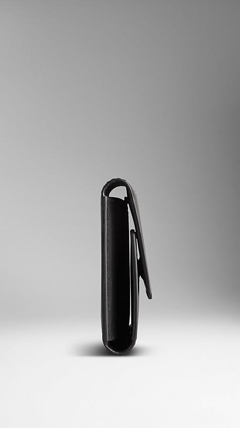 Black Sartorial Leather Cufflink Travel Case - Image 3