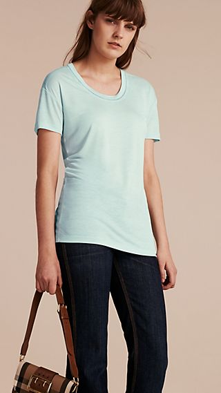 Scoop Neck Lyocell T-shirt