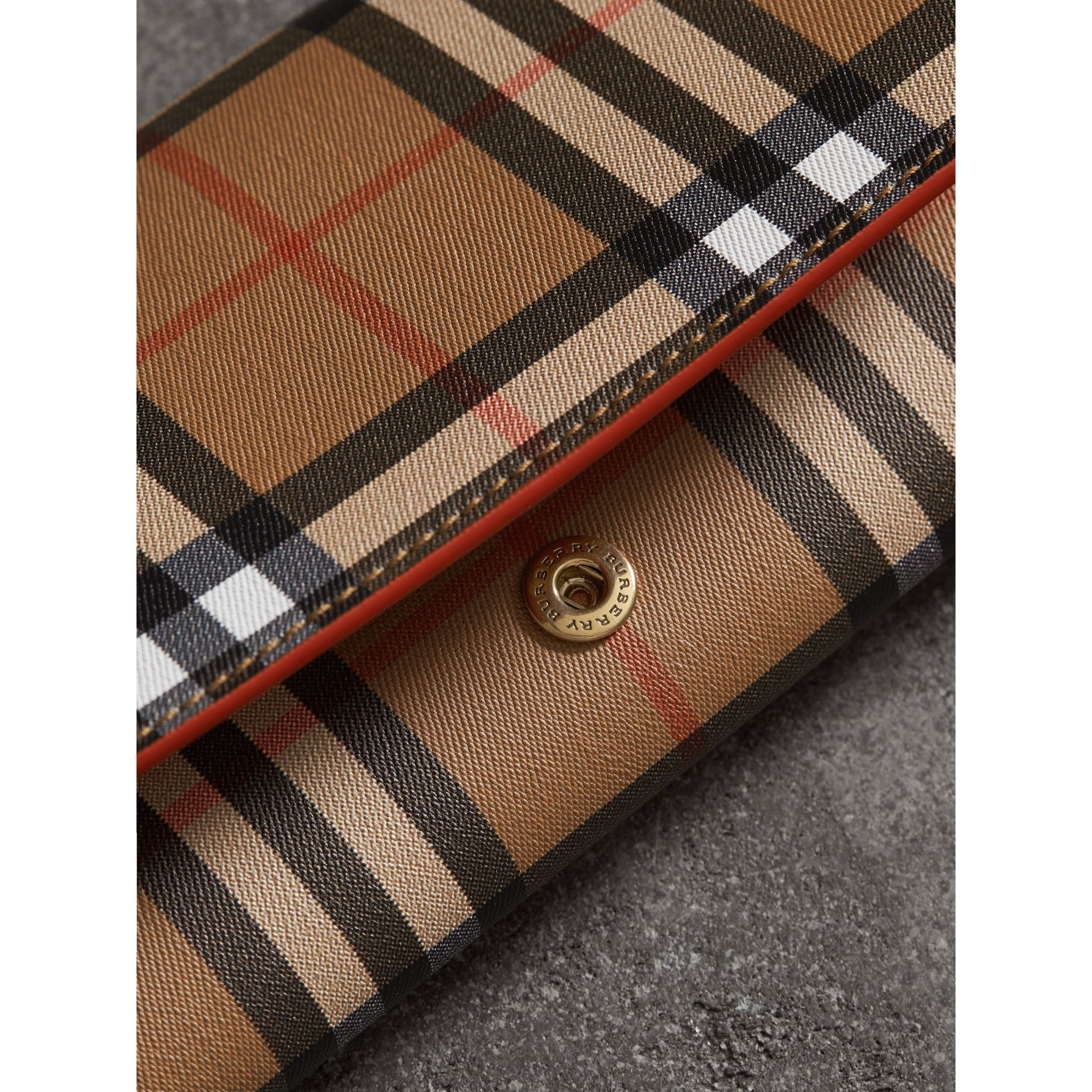 Vintage Check Continental Wallet and Pouch in Clementine - Women | Burberry - gallery image 1