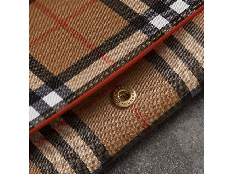 Vintage Check Continental Wallet and Pouch in Clementine - Women | Burberry Australia - cell image 1