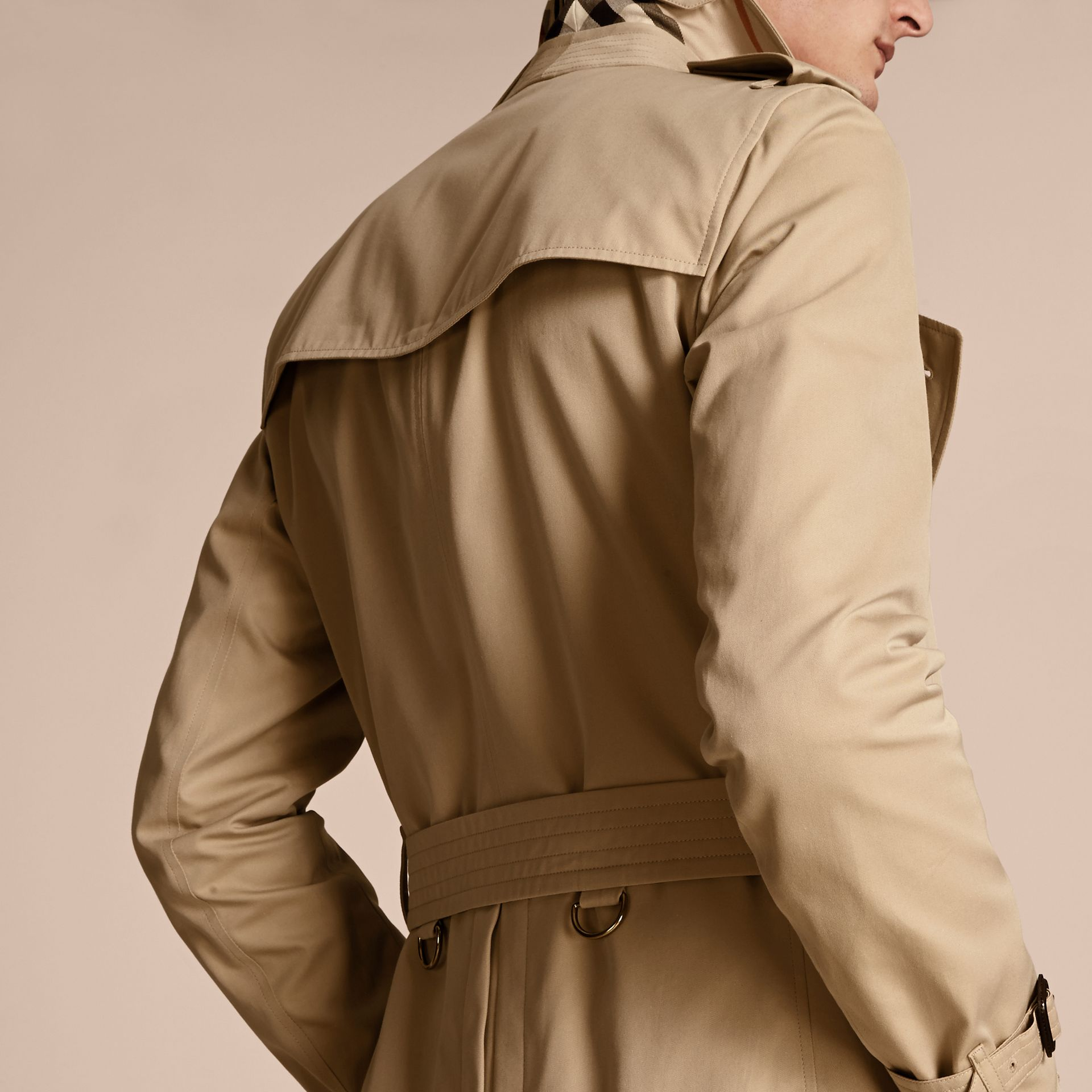 Honey The Sandringham – Mid-length Heritage Trench Coat Honey - gallery image 6
