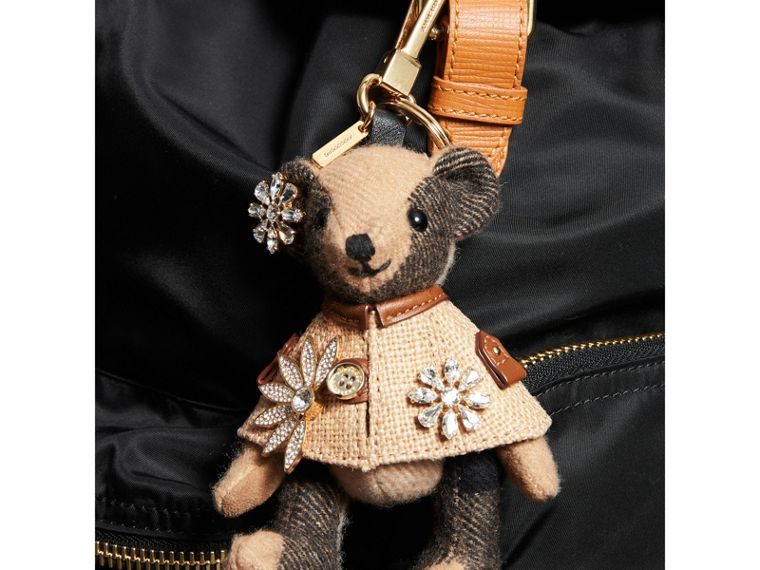 Thomas Bear Charm in Cape with Crystals in Camel | Burberry United Kingdom - cell image 2