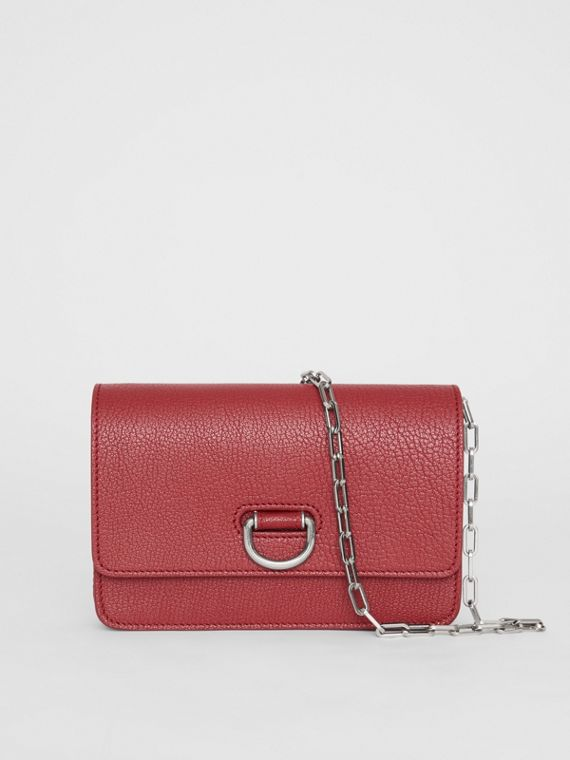Mini sac The D-ring en cuir (Carmin)