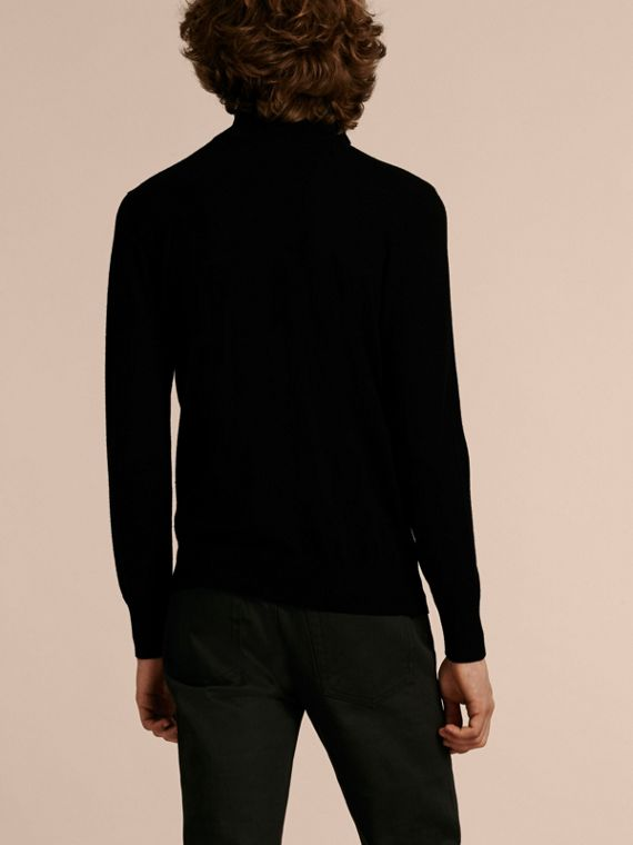 Black Zip-collar Cashmere Sweater Black - cell image 2