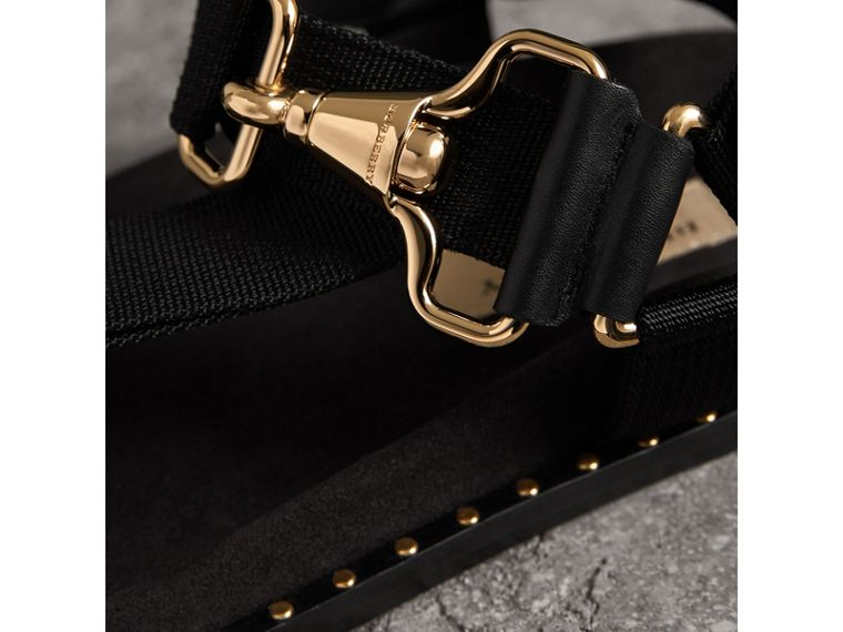 Hardware Detail Strappy Sandals in Black - Women | Burberry - cell image 1