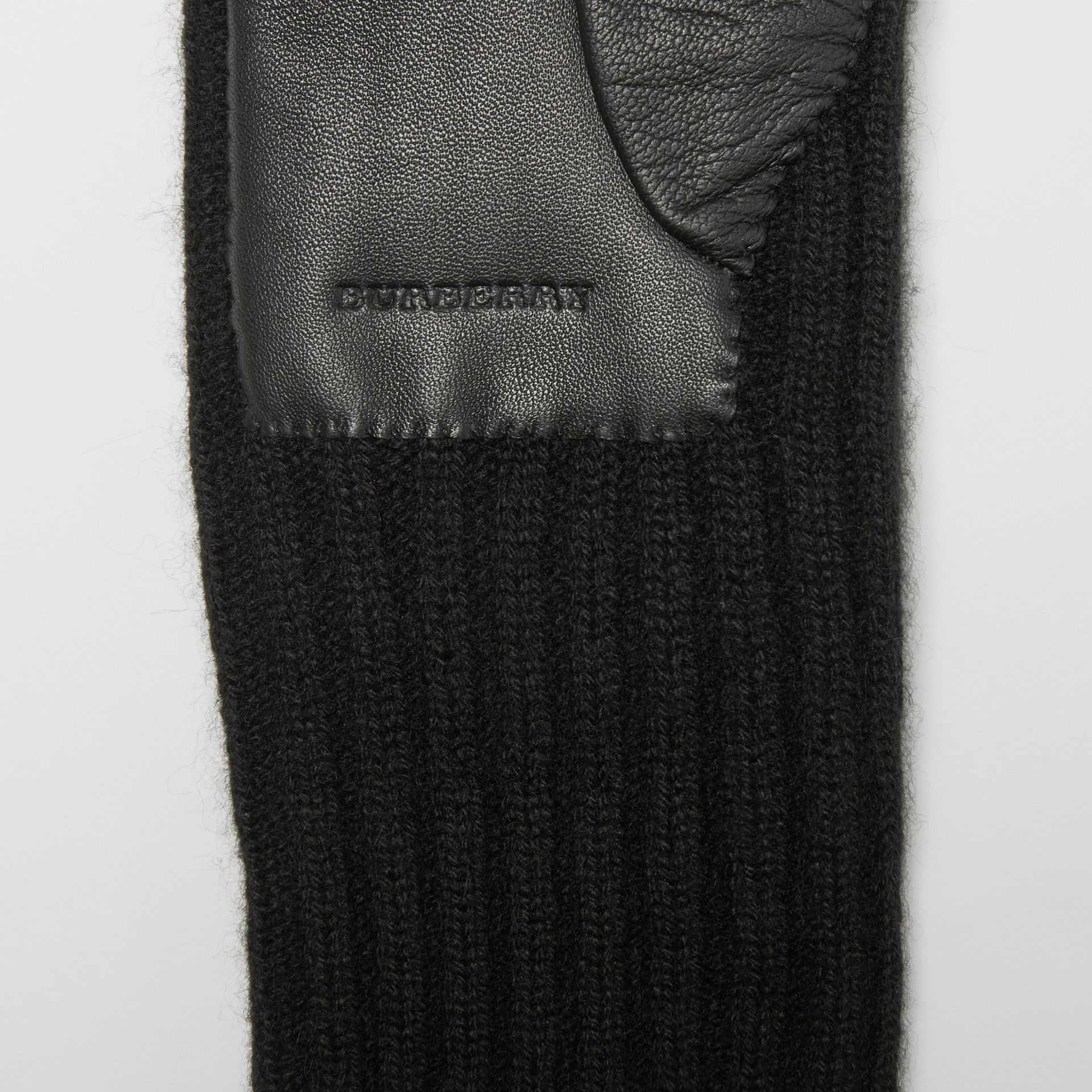 Cashmere and Lambskin Gloves in Black - Women | Burberry - gallery image 1