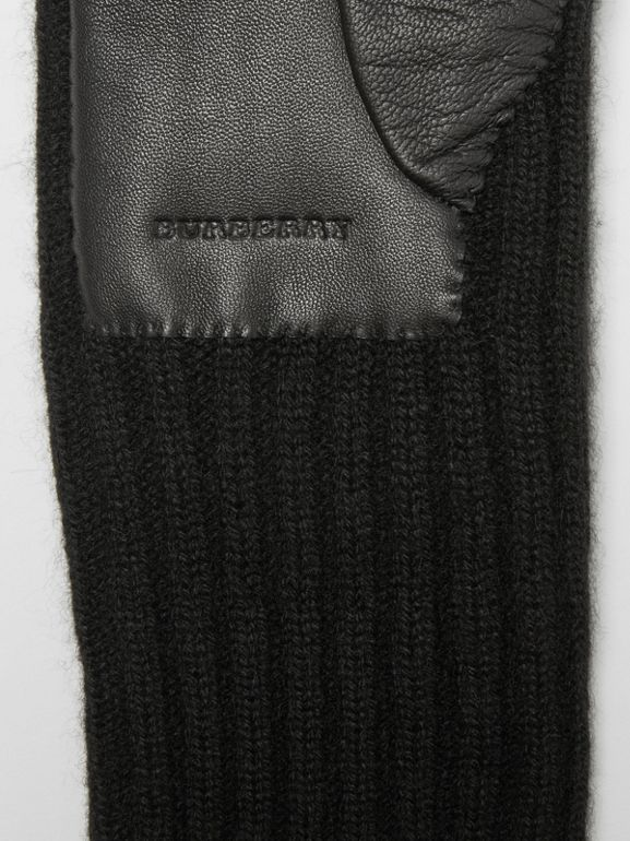 Cashmere and Lambskin Gloves in Black - Women | Burberry United States - cell image 1