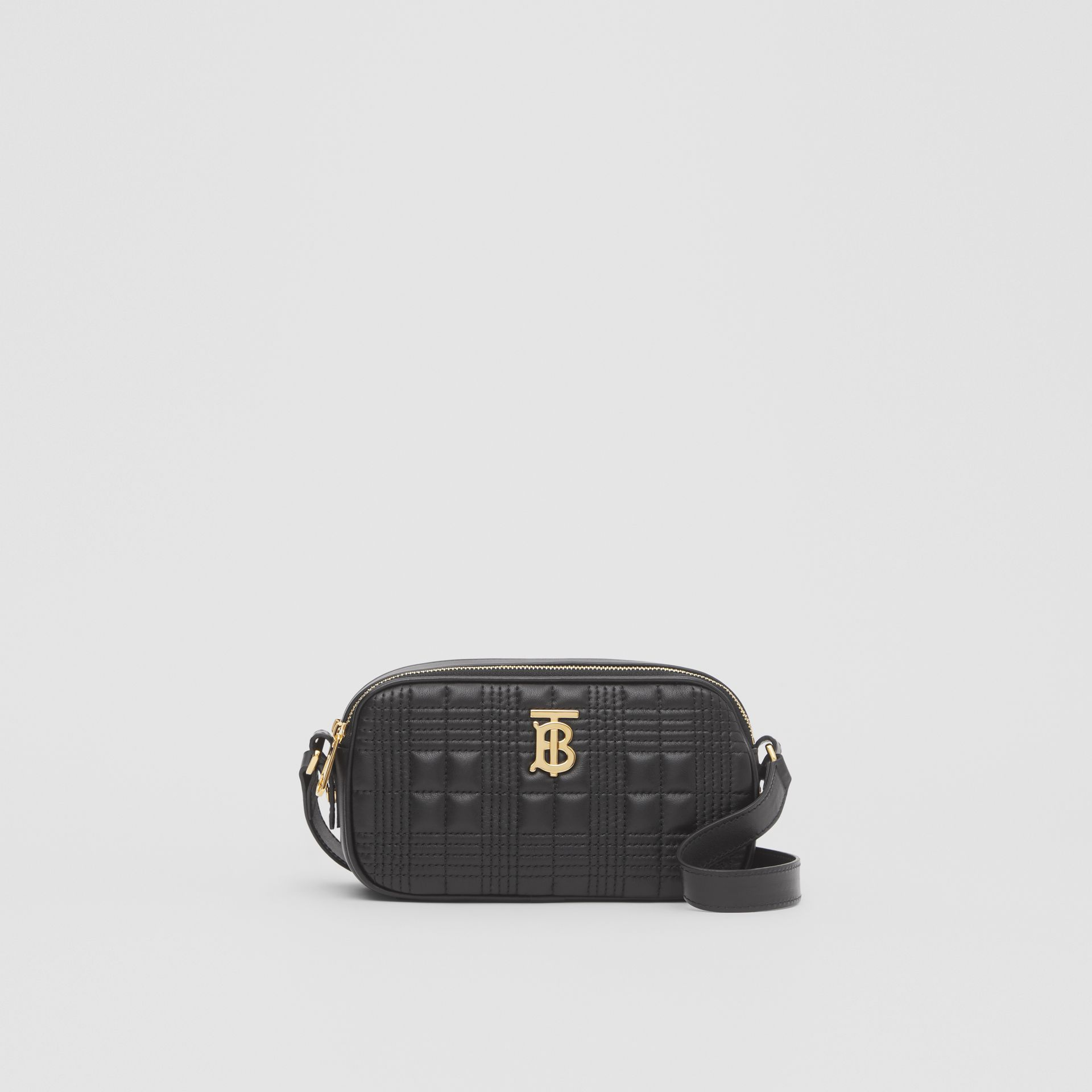Mini Quilted Lambskin Camera Bag in Black   Burberry United Kingdom - gallery image 0