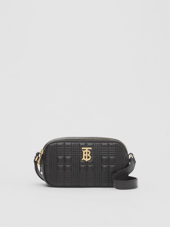 Mini Quilted Lambskin Camera Bag in Black