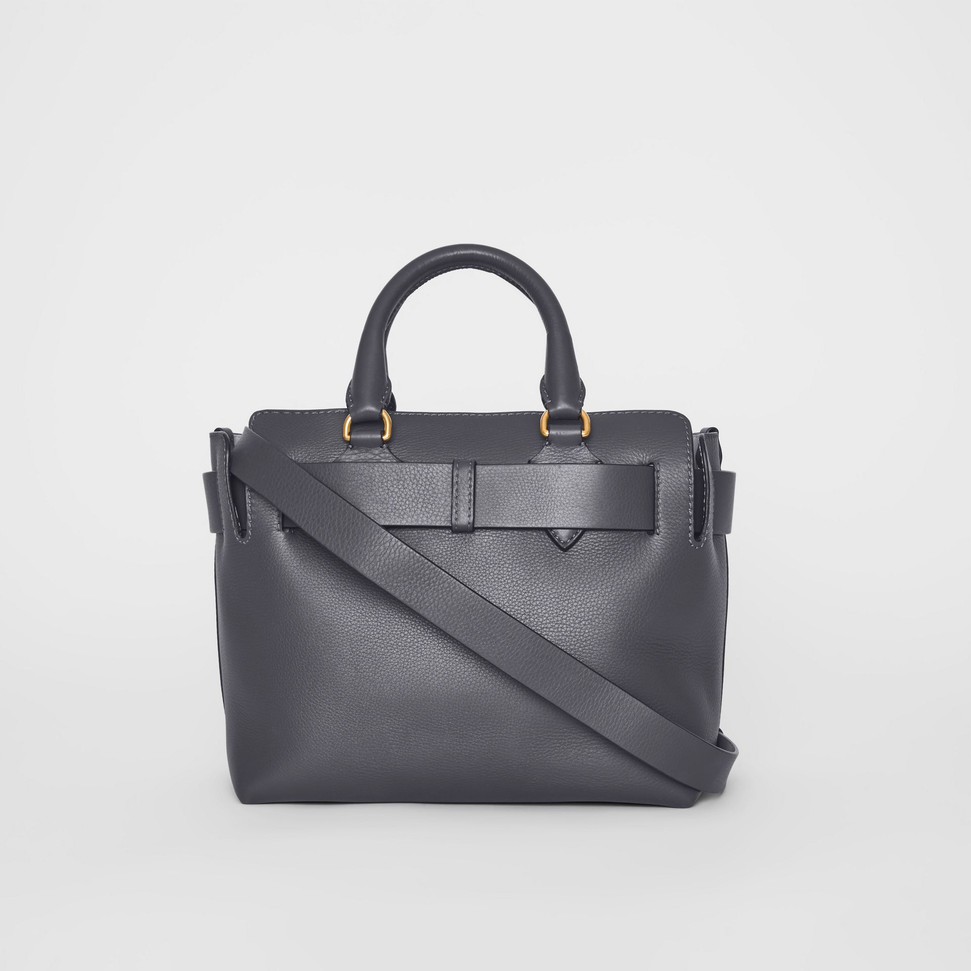The Small Leather Belt Bag in Charcoal Grey - Women | Burberry - gallery image 6