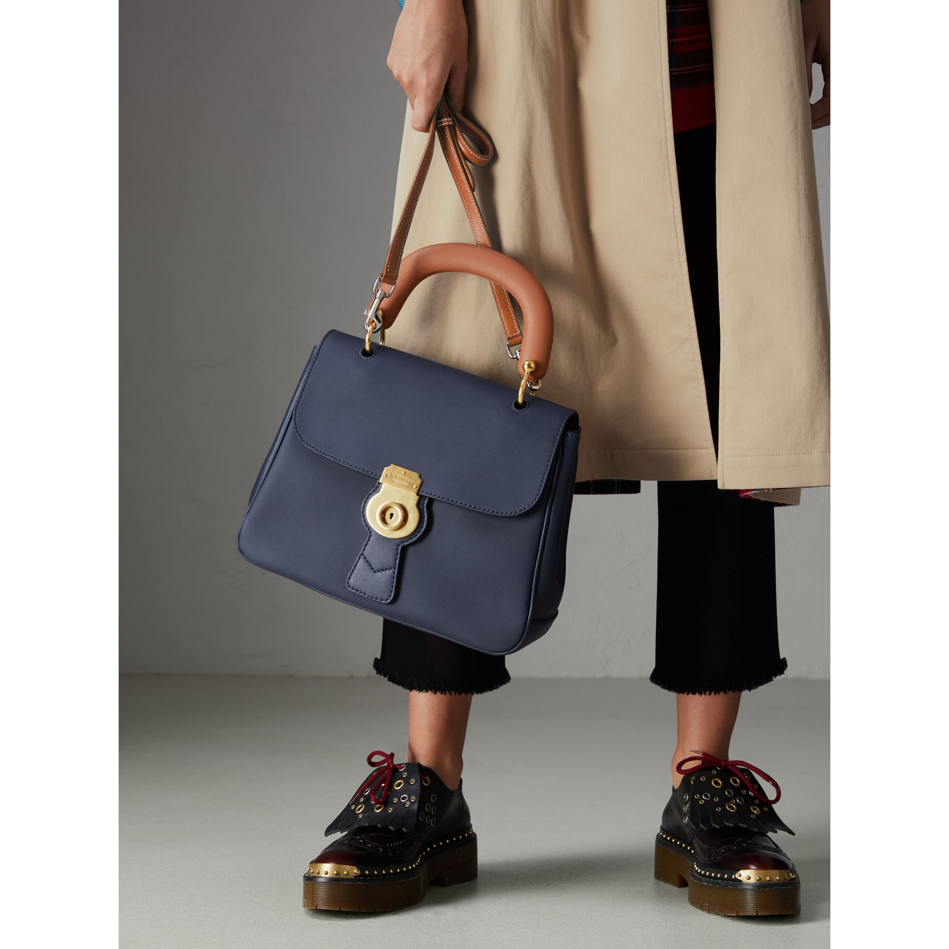The Medium DK88 Top Handle Bag in Ink Blue - Women | Burberry - gallery image 5
