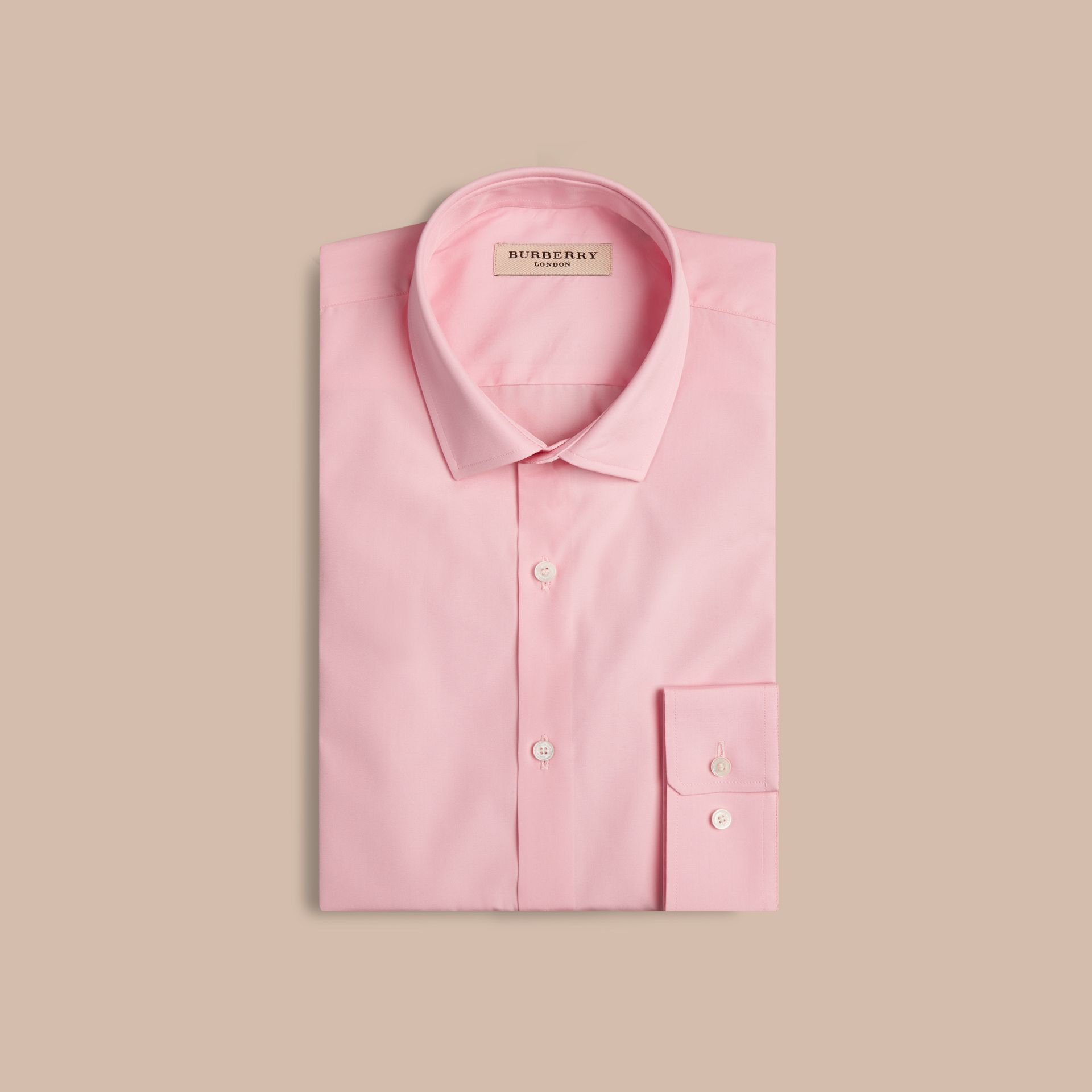 Modern Fit Cotton Poplin Shirt City Pink - gallery image 4