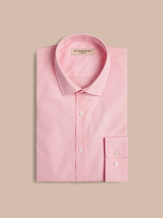 Modern Fit Cotton Poplin Shirt City Pink - cell image 3
