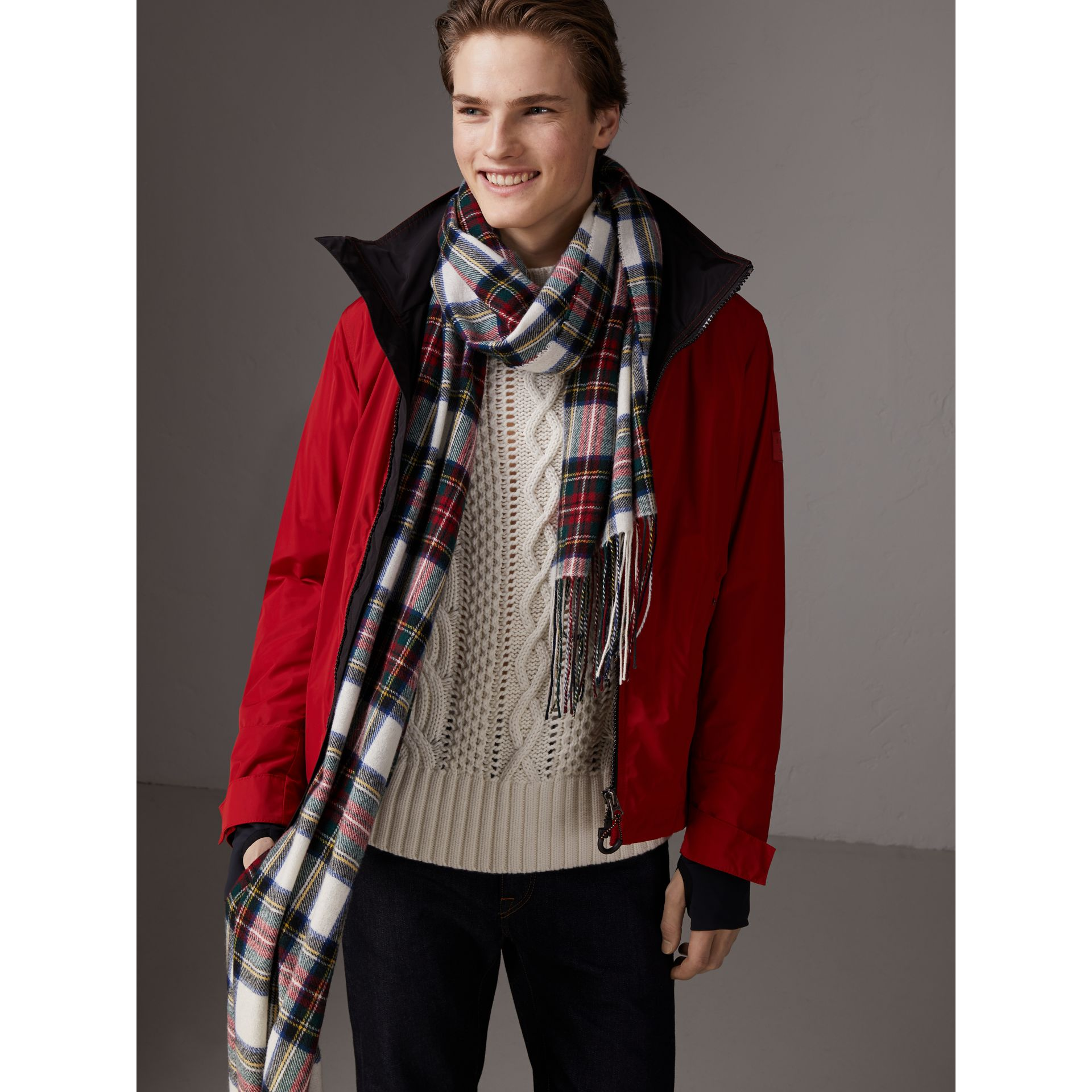Packaway Hood Shape-memory Taffeta Jacket in Military Red - Men | Burberry - gallery image 6