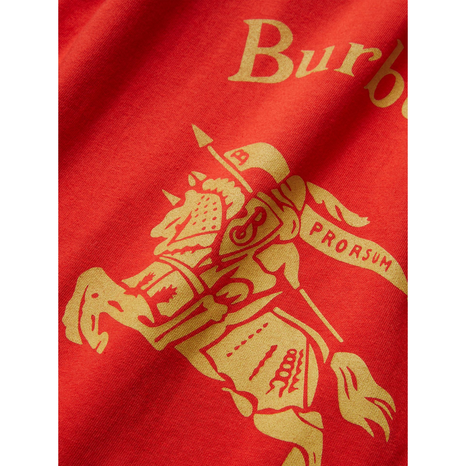 Large Archive Logo Jersey Shopper in Poppy Red | Burberry United Kingdom - gallery image 1