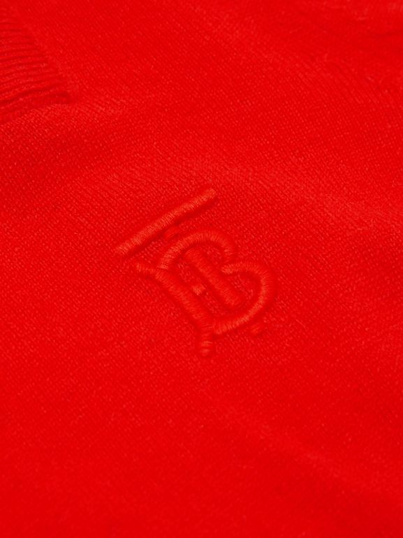 Monogram Motif Cashmere Sweater in Bright Red | Burberry - cell image 1
