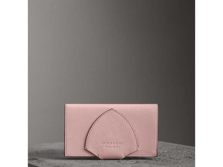 Equestrian Shield Two-tone Leather Continental Wallet in Pale Ash Rose - Women | Burberry Singapore - cell image 4