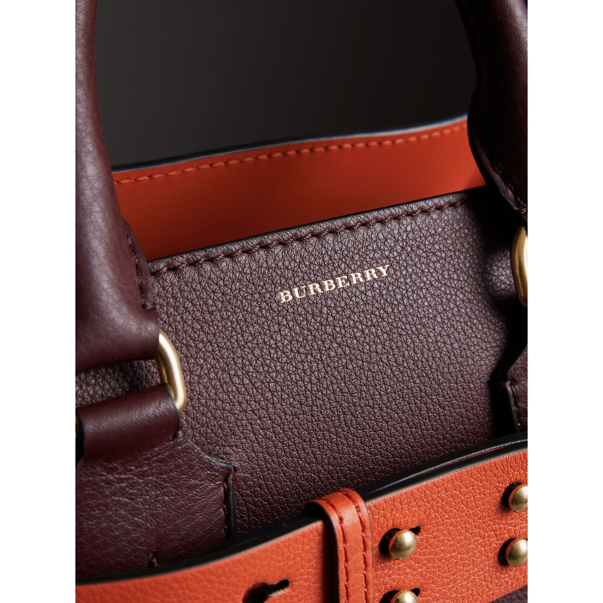 The Small Leather Belt Bag in Deep Claret - Women | Burberry - gallery image 1