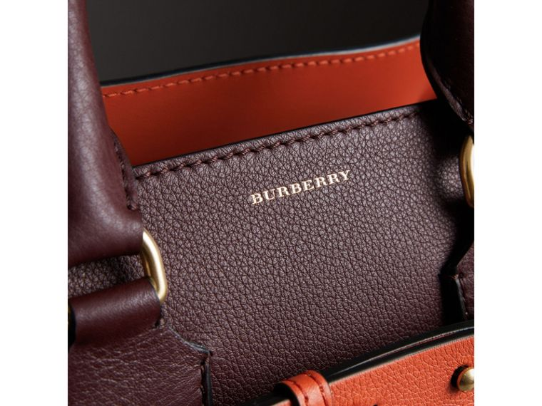 The Small Leather Belt Bag in Deep Claret - Women | Burberry Singapore - cell image 1