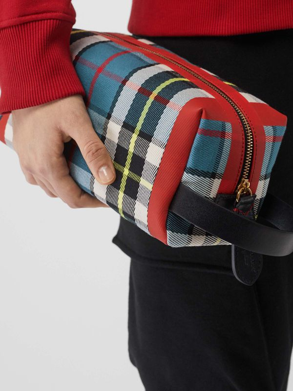 Tartan Cotton Pouch in Blue | Burberry - cell image 2
