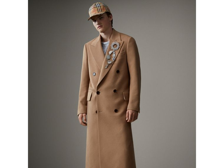 Camel Hair Wool Chesterfield - Men | Burberry Australia - cell image 4