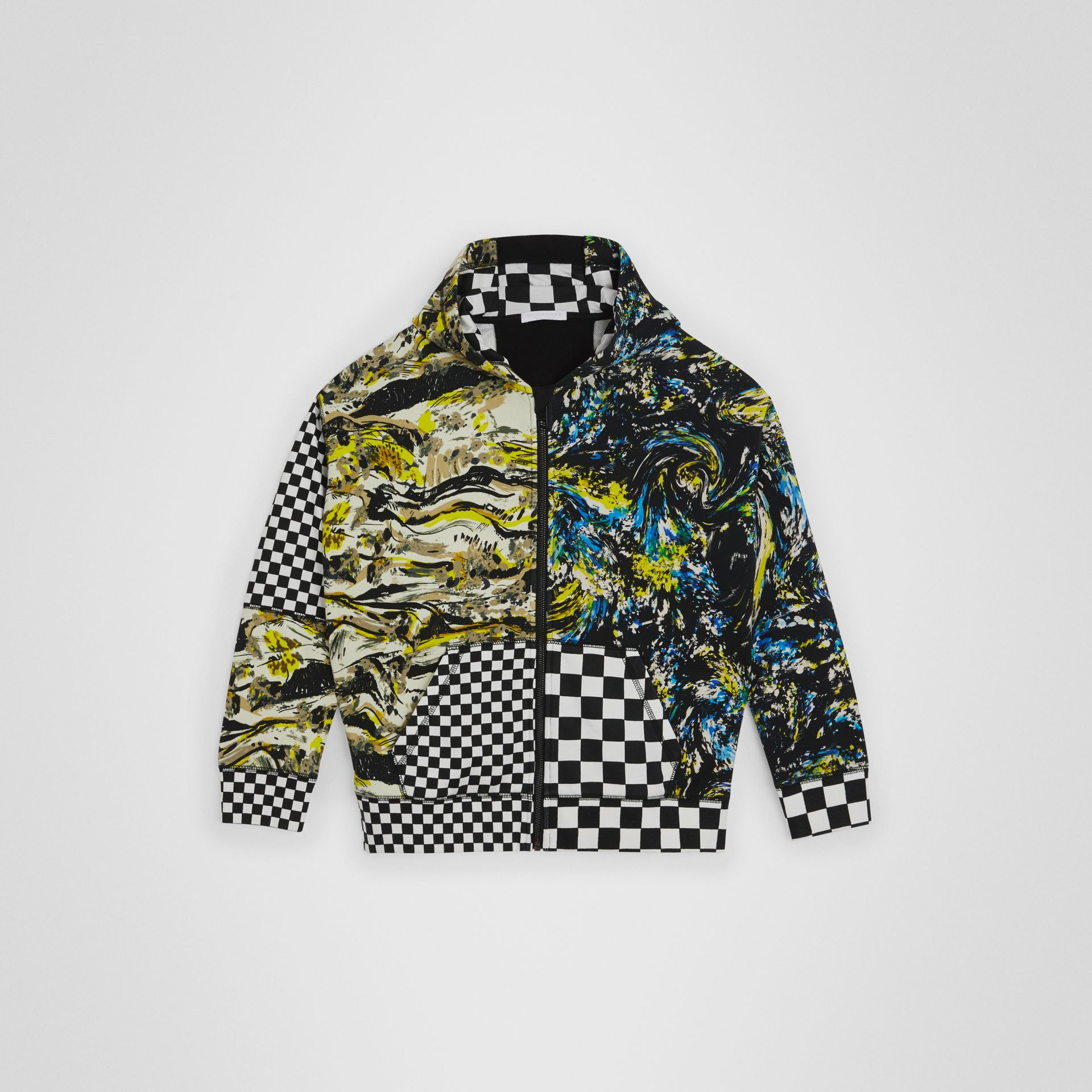 Graphic Print Cotton Hooded Top in Multicolour | Burberry Australia - gallery image 0