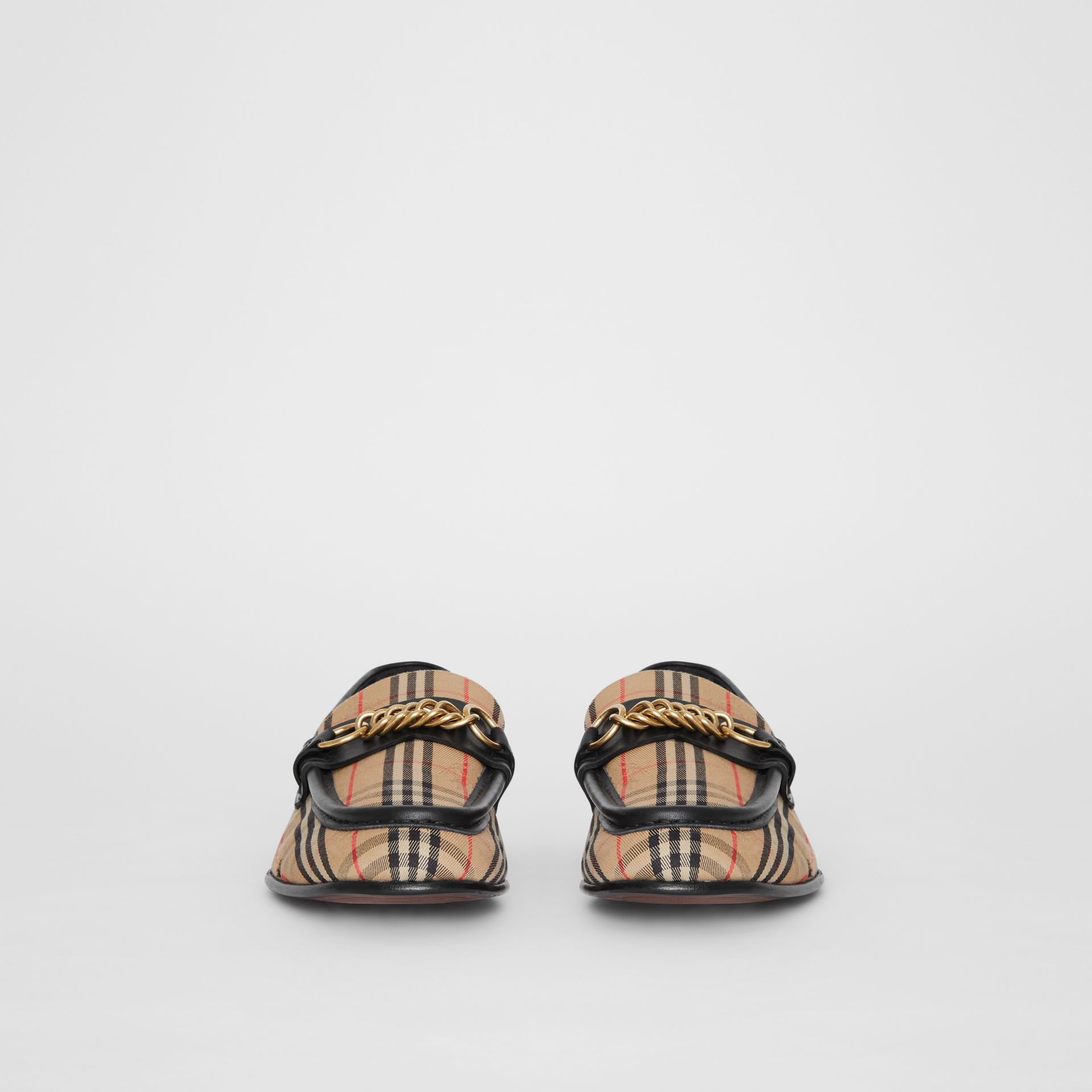 The 1983 Check Link Loafer in Black - Women | Burberry United States - gallery image 3