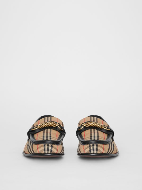 The 1983 Check Link Loafer in Black - Women | Burberry - cell image 3
