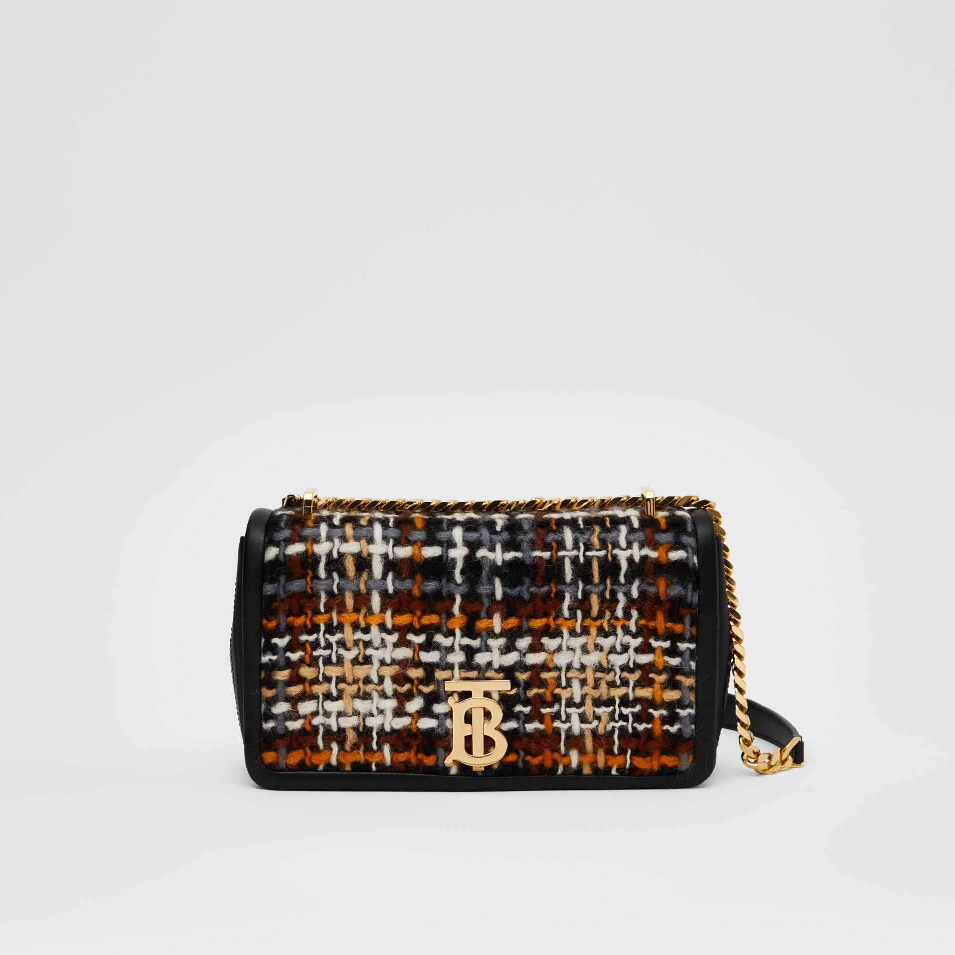 Small Tweed and Lambskin Lola Bag in Black - Women | Burberry Australia - gallery image 0