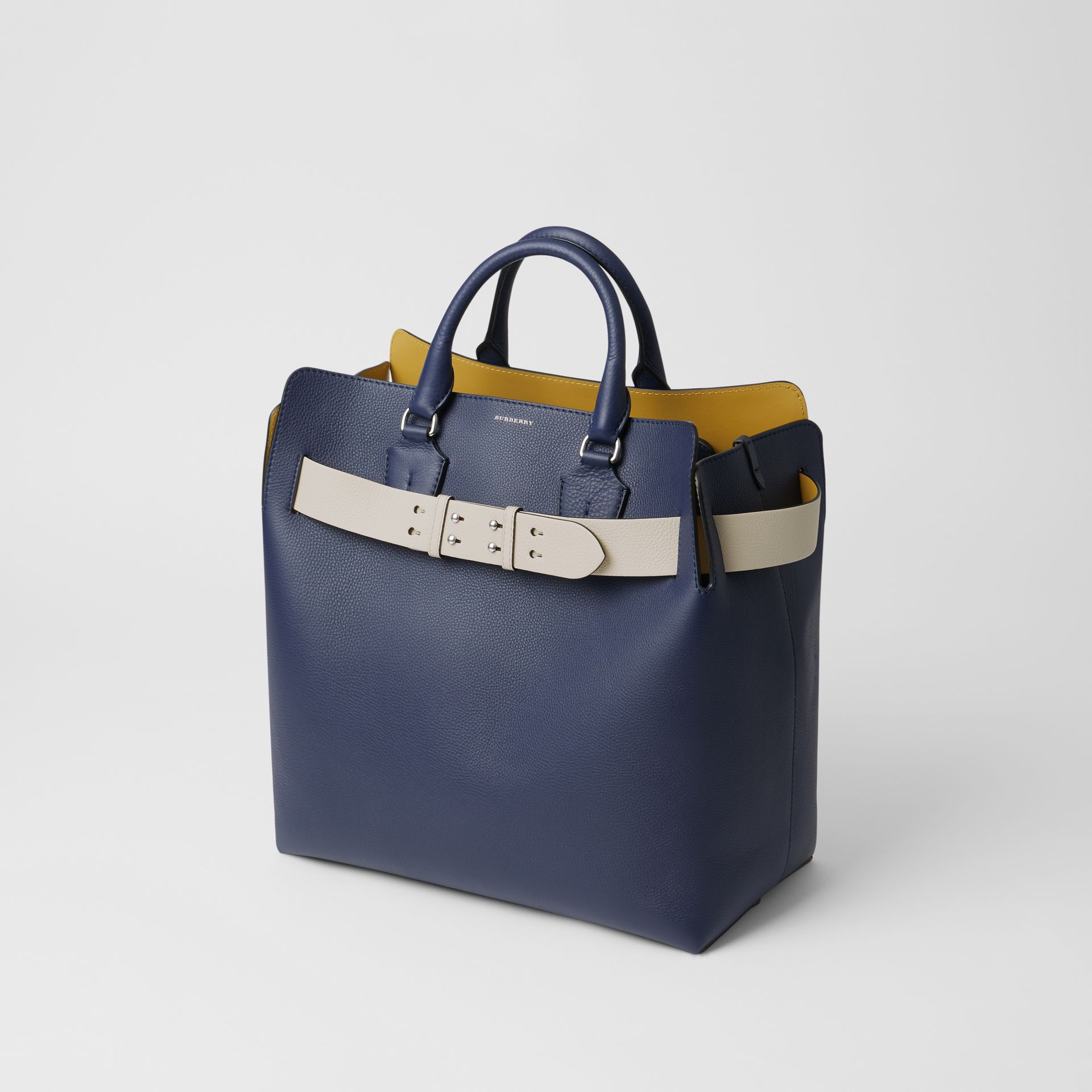 The Large Leather Belt Bag in Regency Blue - Women | Burberry - gallery image 4