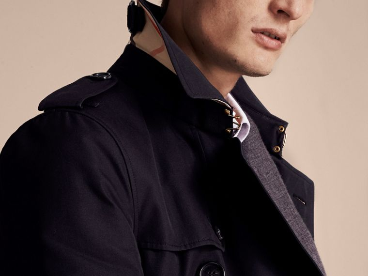 Navy The Sandringham – Long Heritage Trench Coat Navy - cell image 4