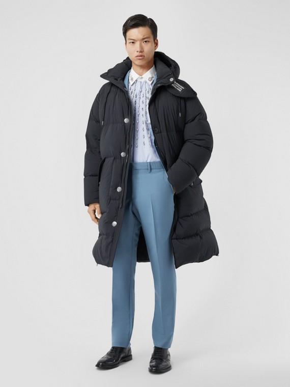 Шерстяные брюки классического фасона (Стальной Синий)