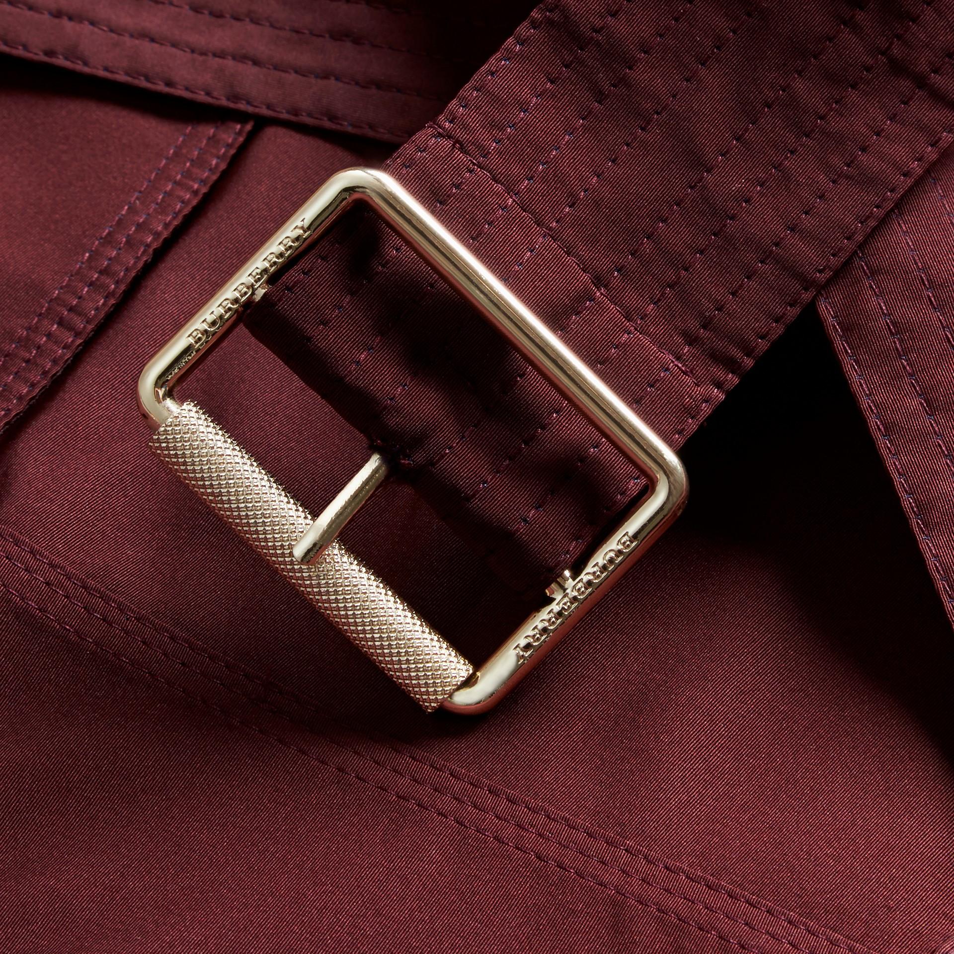 Deep claret Showerproof Taffeta Trench Jacket with Detachable Hood Deep Claret - gallery image 2