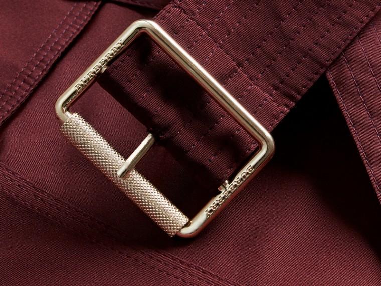 Bordeaux intense Veste trench en taffetas imperméable avec capuche amovible Bordeaux Intense - cell image 1