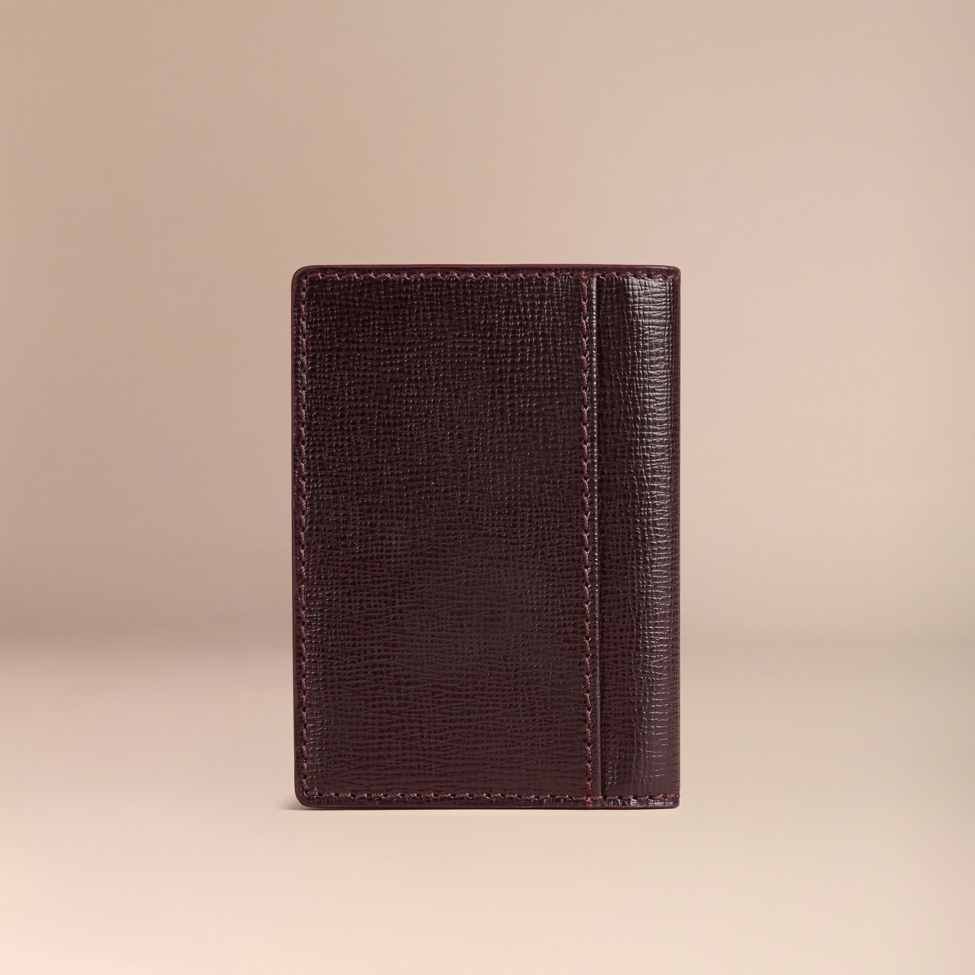 Wine London Leather Folding Card Case - gallery image 3