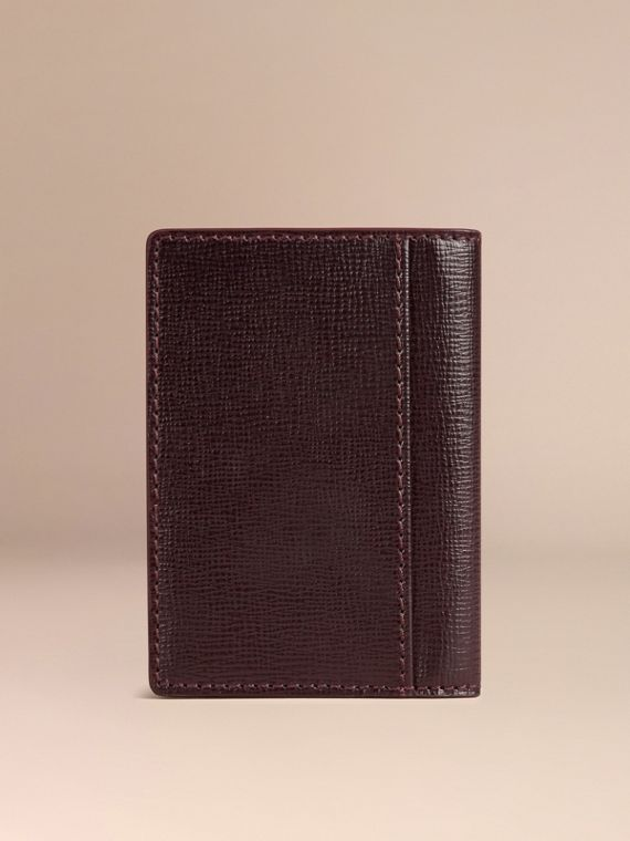 Wine London Leather Folding Card Case - cell image 2