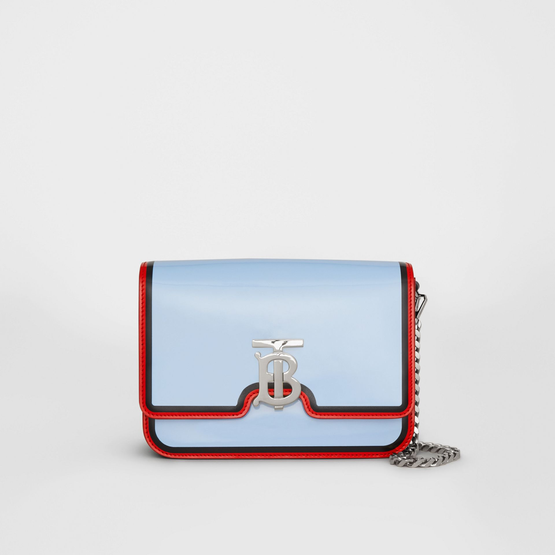 Small Painted Edge Leather TB Bag in Pale Blue - Women | Burberry United Kingdom - gallery image 0