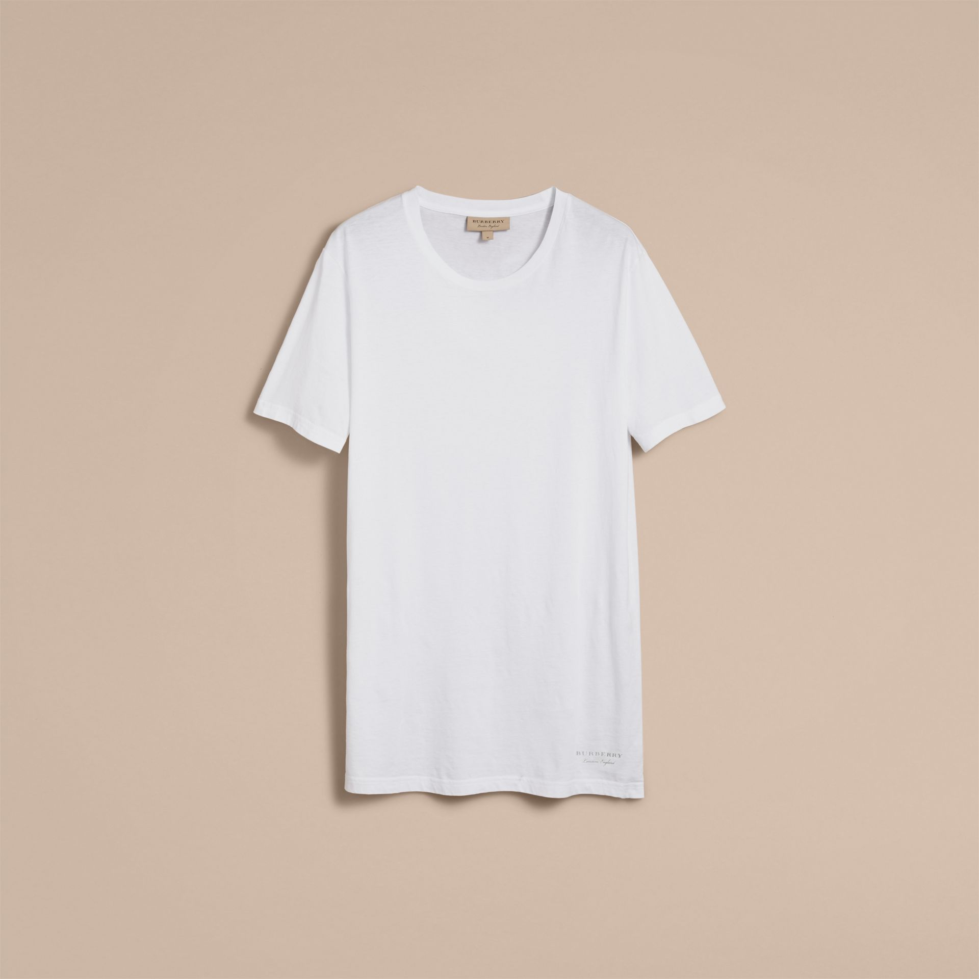 Cotton Jersey Long T-shirt - Men | Burberry Canada - gallery image 4