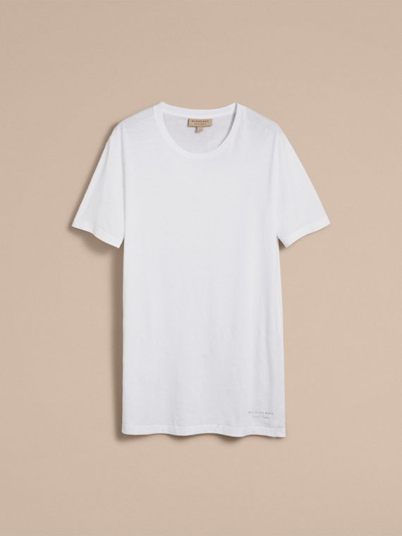 Cotton Jersey Long T-shirt - Men | Burberry Singapore - cell image 3
