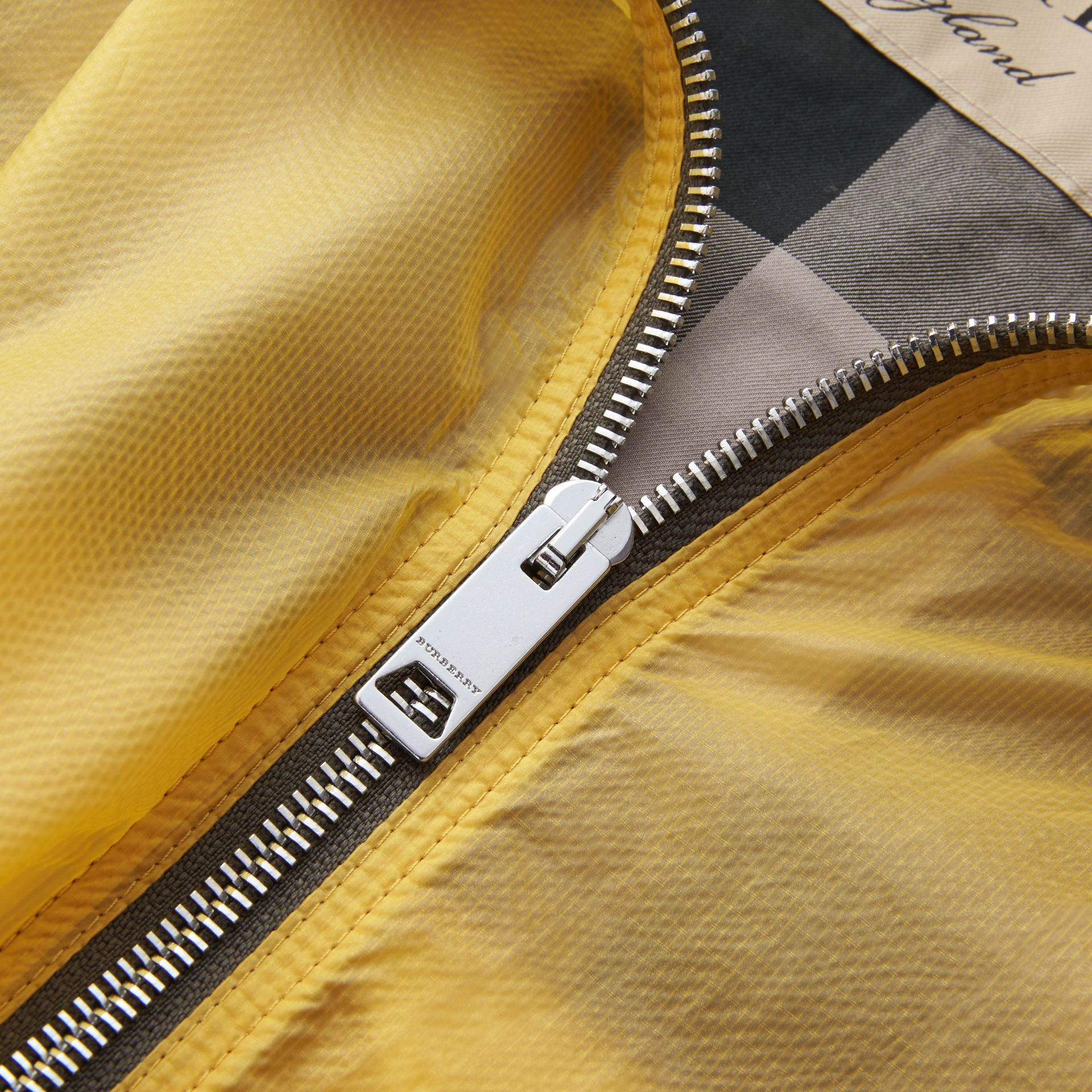 Hooded Super-lightweight Jacket in Pale Yellow - Men | Burberry Australia - gallery image 2