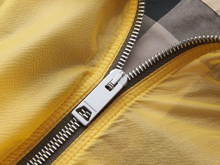 Hooded Super-lightweight Jacket in Pale Yellow - Men | Burberry - cell image 1