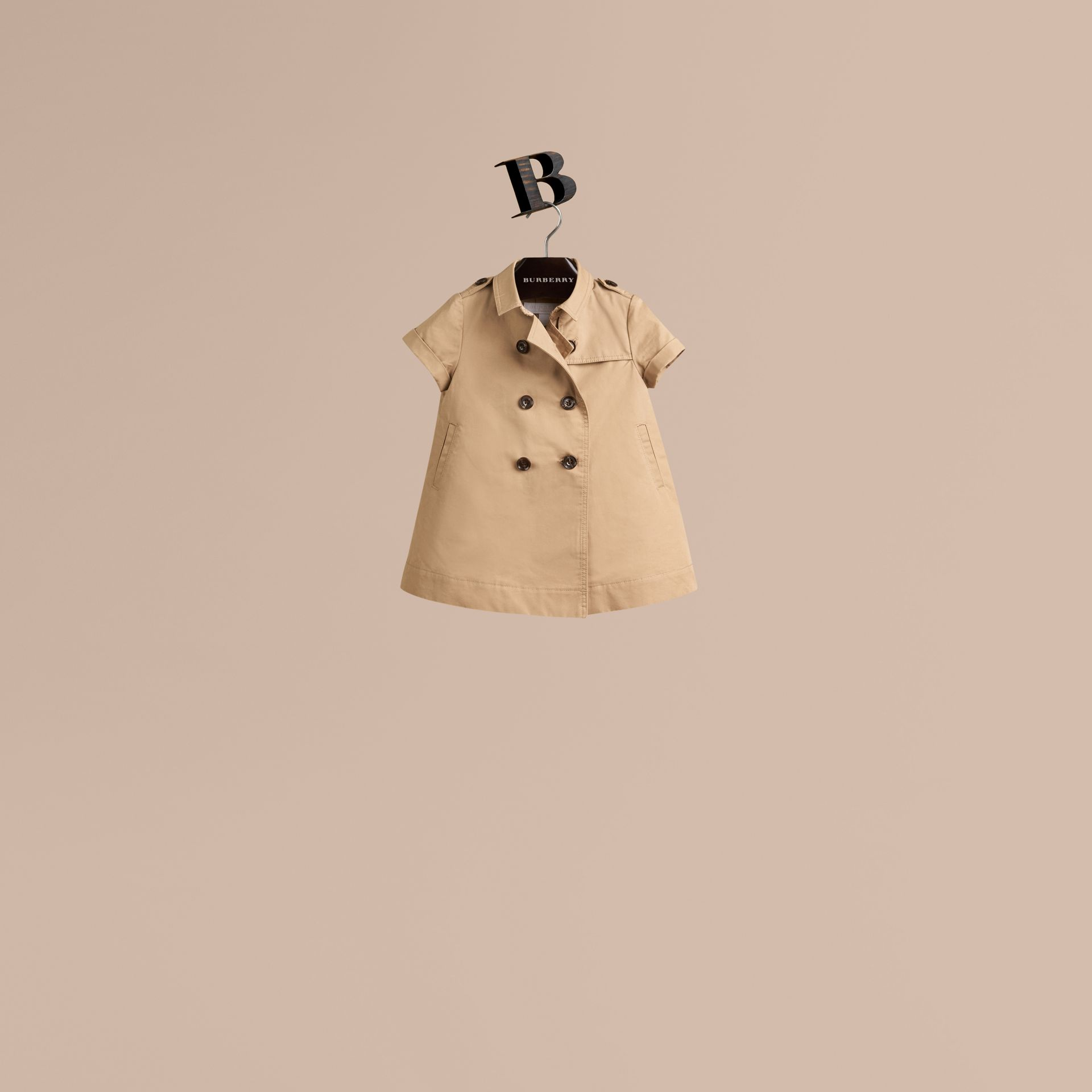 Cotton Trench Dress in Honey - gallery image 1