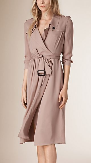 Robe trench en soie