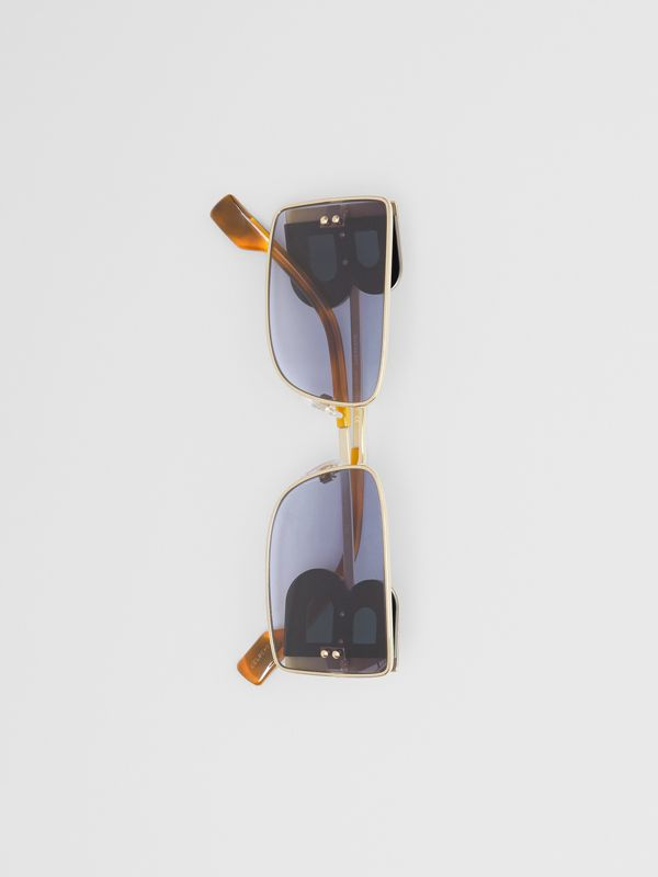 'B' Lens Detail Rectangular Frame Sunglasses in Tortoiseshell - Women | Burberry Hong Kong - cell image 2