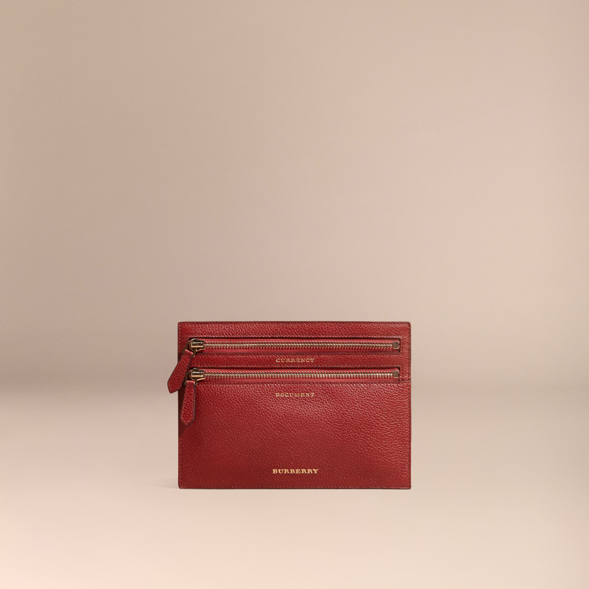 Grainy Leather Currency Wallet in Parade Red | Burberry United Kingdom - gallery image 5